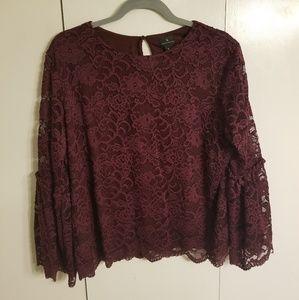 Lace Purple blouse